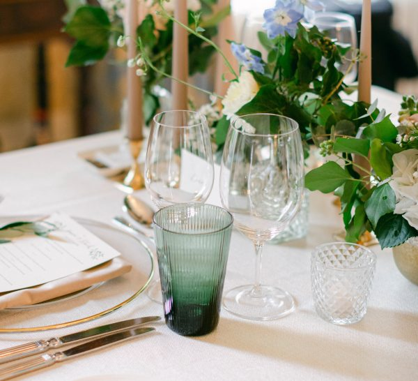 Green water glass - Signature Rentals