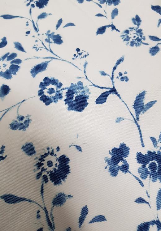 Linen - blue & white floral