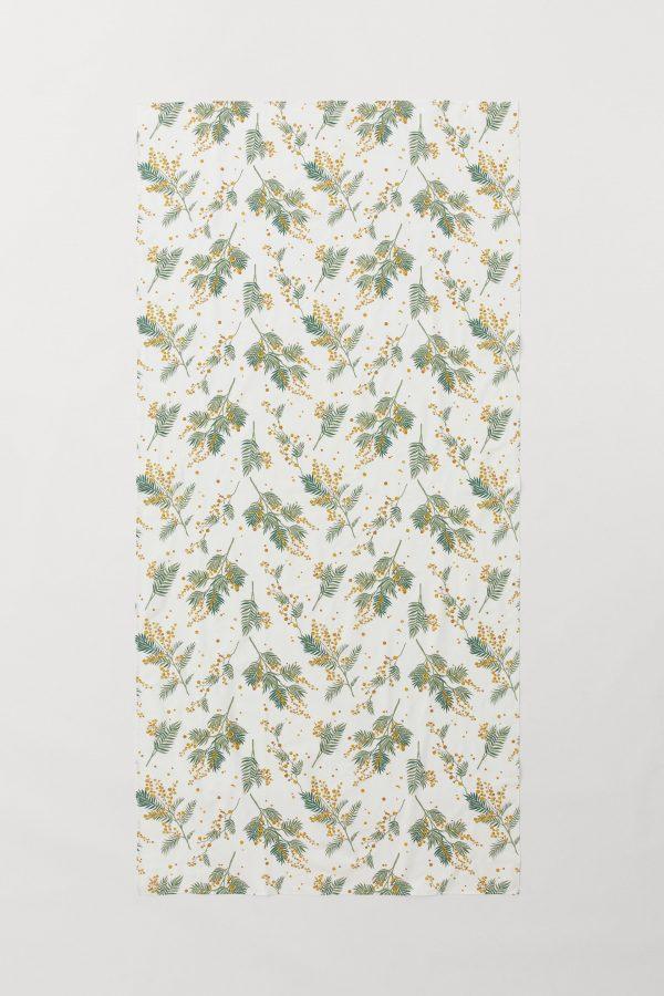 Linen - green & gold botanical