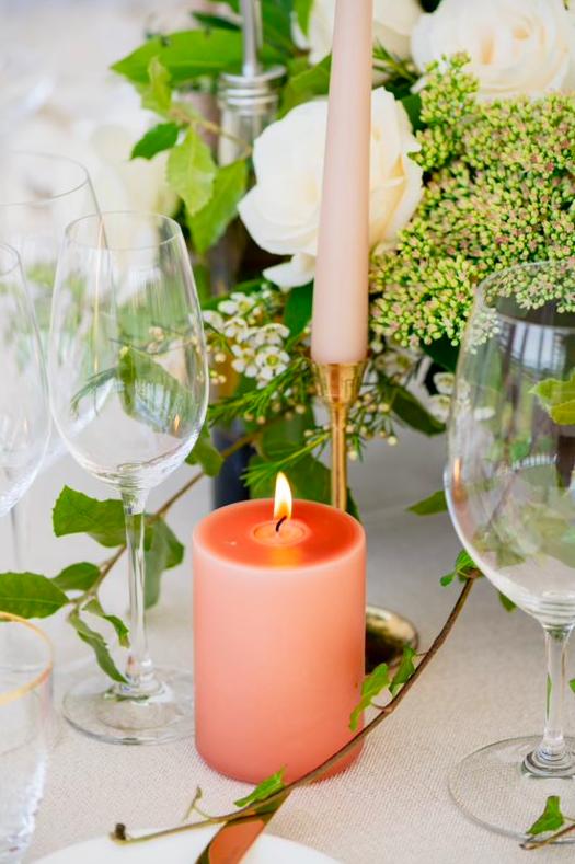 Pillar powder candle