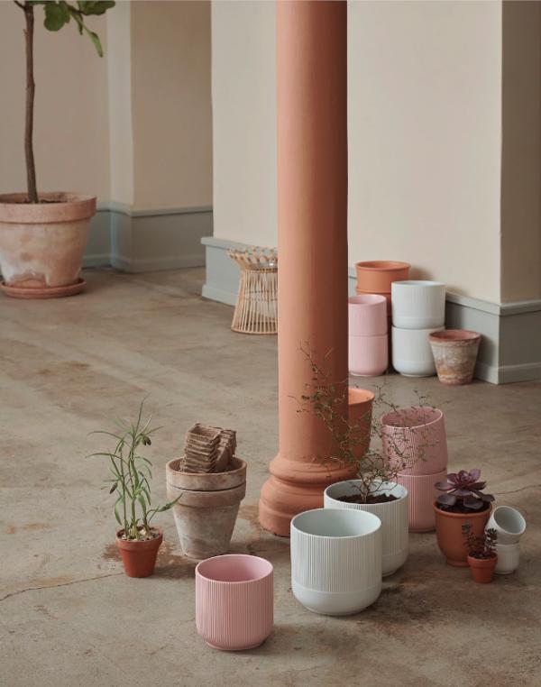 Plant pot - pink ceramic