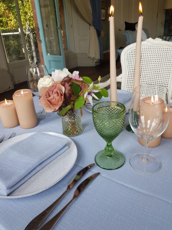 Signature Rentals - Glassware - diamond, stemmed green