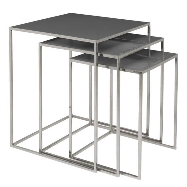 Table - nest of three, dark grey