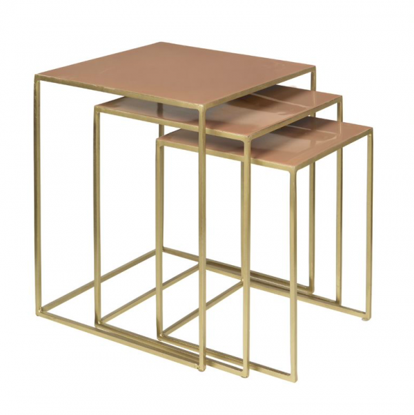 Table - nest of three, tan