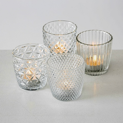 Tealight Holders - clear