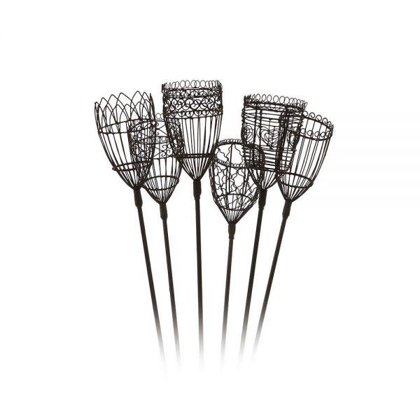 Tealight holders - wrought iron