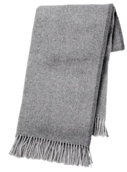 Throw - wool, grey