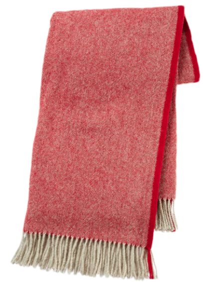 Throw - wool, red