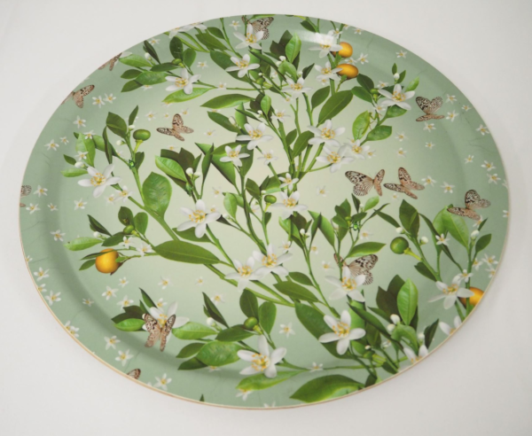Tray - floral green