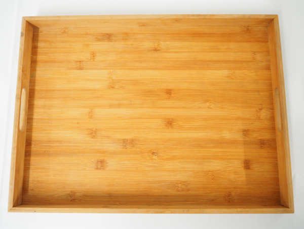 Tray - wooden with handle