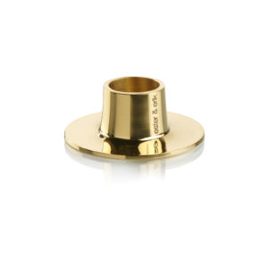 Ester & Erik Shiny gold candle holder