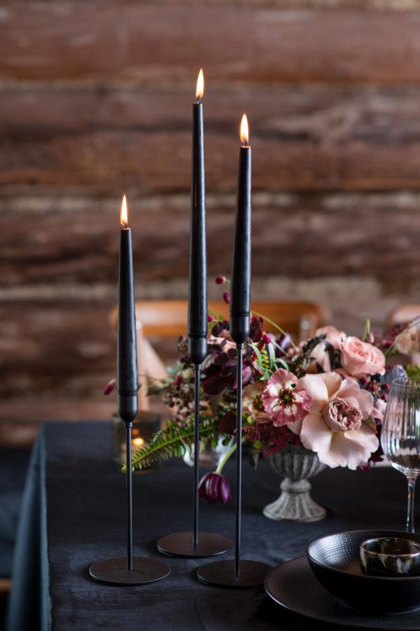 Candle holder - black - modern - signature rentals
