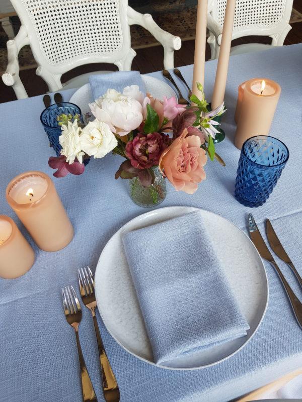 Signature Rentals - Glassware - blue water, diamond