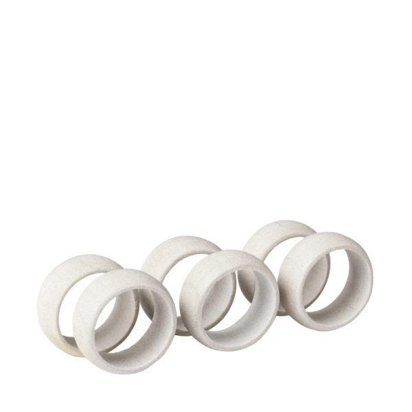 Sand stone napkin ring - set of 6