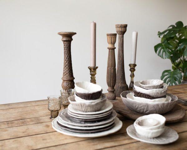 Bordallo-dessert plate-white-signature rentals