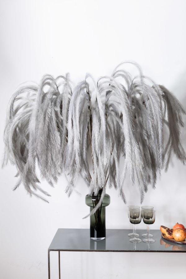 Artificial feather, grey - signature rentals