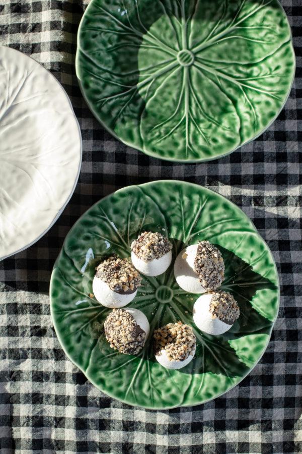 Bordallo style dessert plate - green