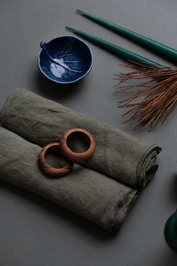 Linen napkin - thyme - signature rentals