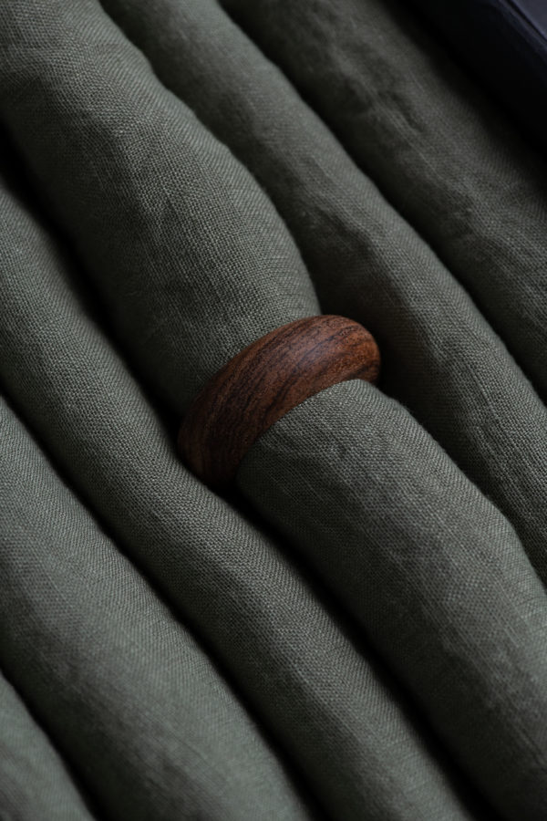Acacia Wood napkin ring - set of 6 - signature rentals