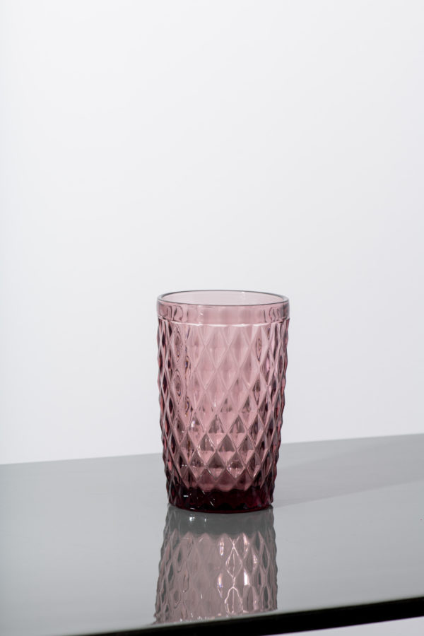 Set of 6 - pink diamond water glass - signature rentals