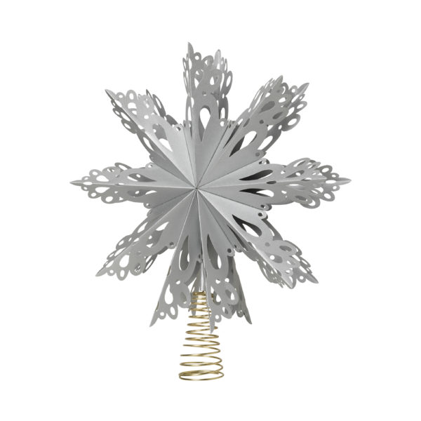 Christmas star topper - silver - signature rentals