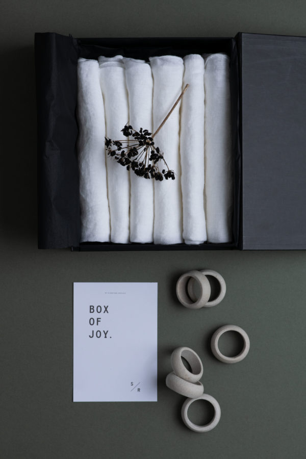 Box of Joy - Napkins and Rings - Signature Rentals