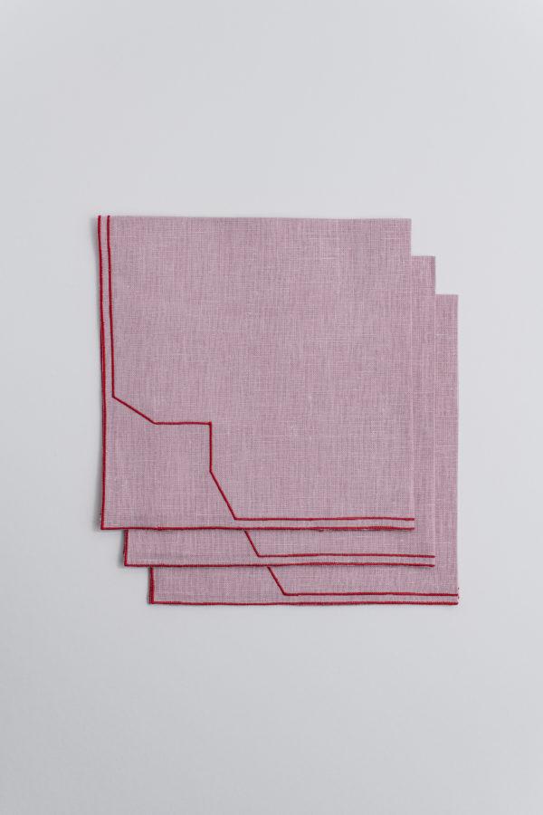 Italian linen napkin - powder rose - signature rentals