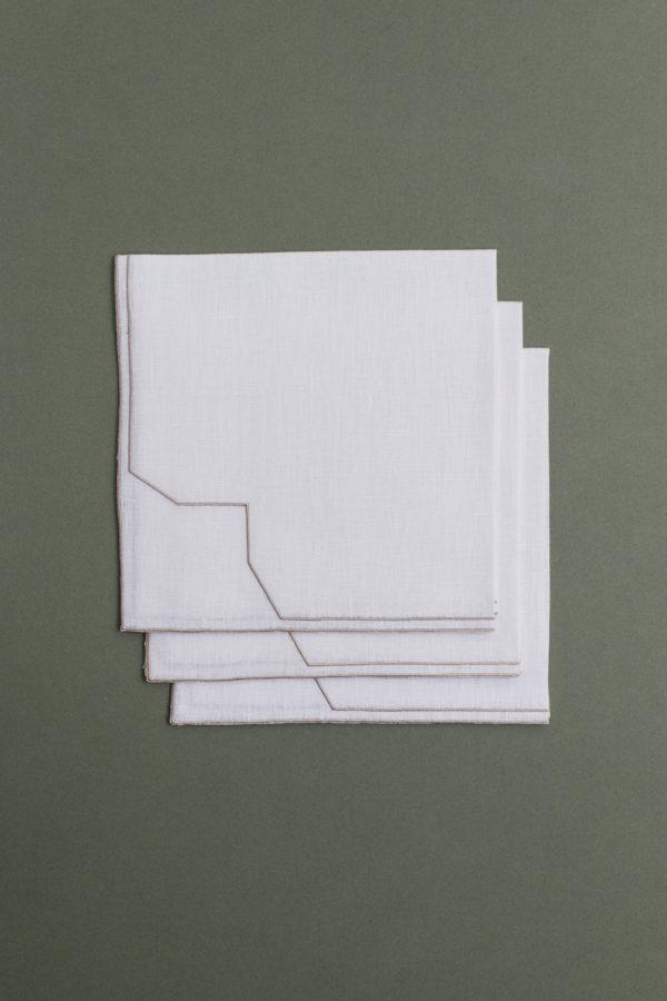 Italian linen napkin - white - signature rentals