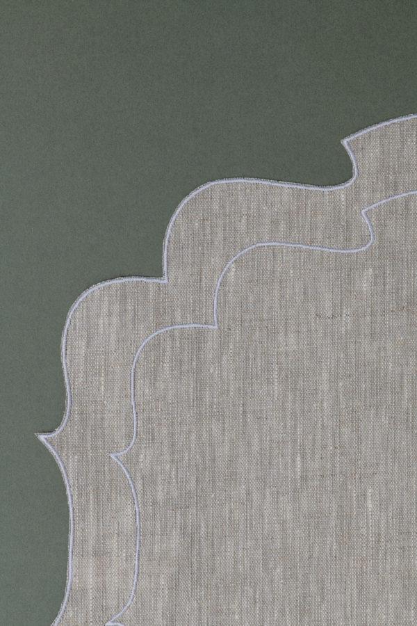 Italian linen placemat - natural - signature rentals