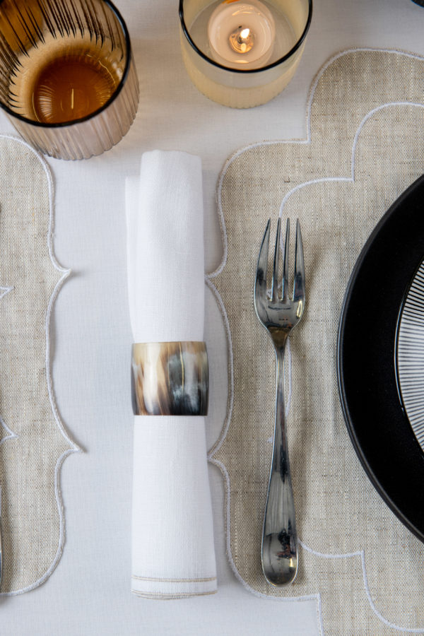 Jay horn napkin ring - set of 6 - signature rentals