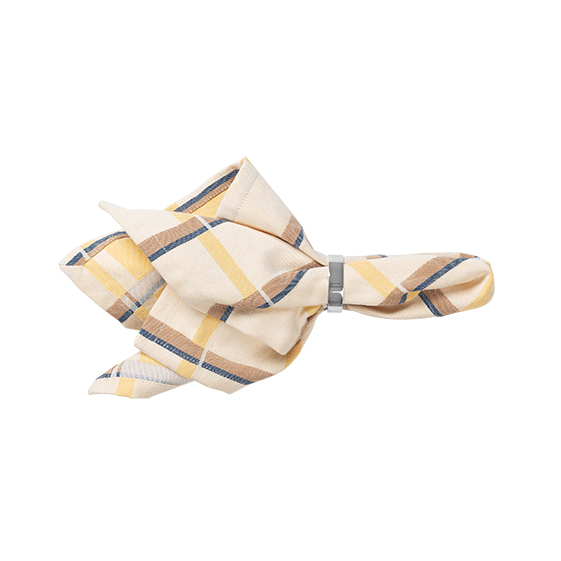 Check cotton napkin - yellow - signature rentals