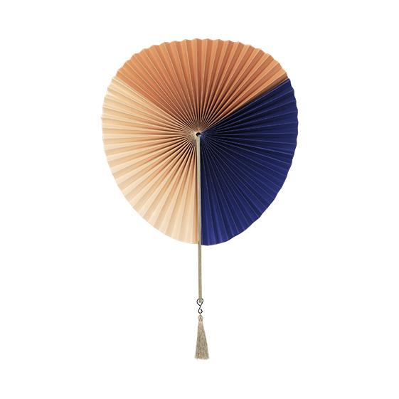 Paper fan - Indian tan, nude & navy - signature rentals