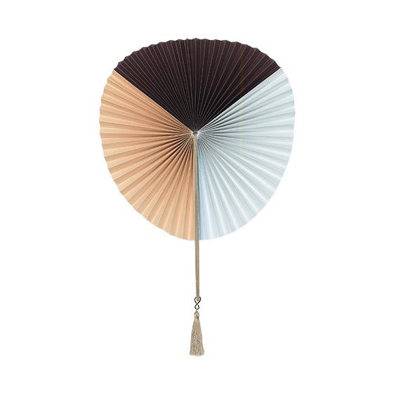 Paper fan - Black, nude & blue - signature rentals