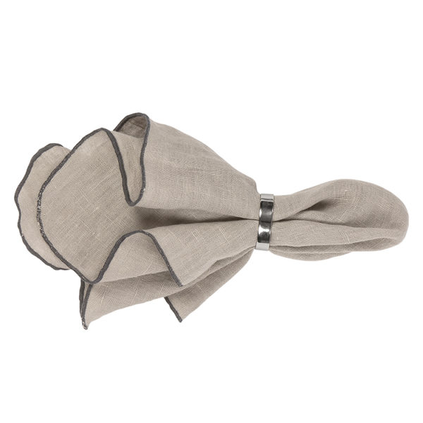 Linen napkin - taupe - signature rentals