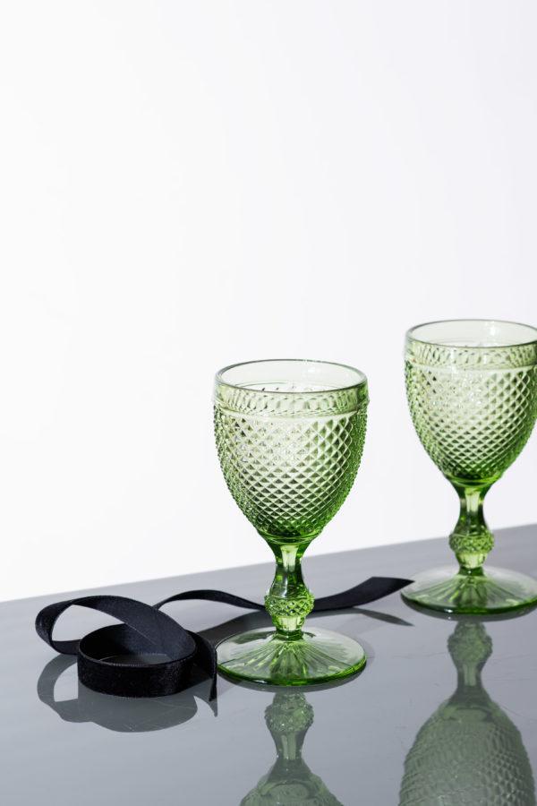 Box of Joy - stemmed diamond glassware - set of 6 - signature rentals