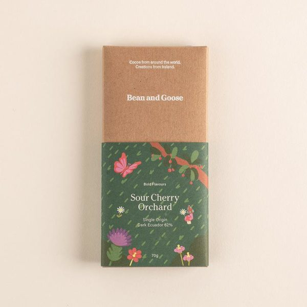 Bean and Goose - sour cherry orchard chocolate bar - signature rentals