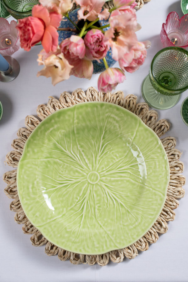 Bordallo style large dinner plate - lime green - Signature Rentals