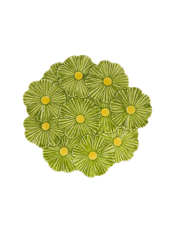 Gardenia - green daisy - plate