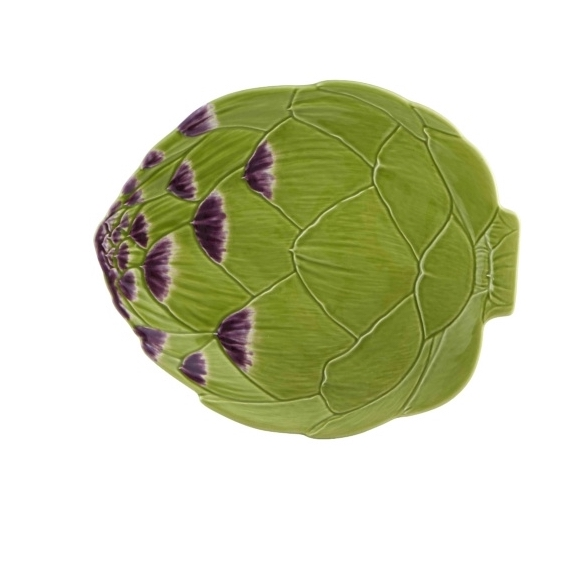 Artichoke large dinner plate - green