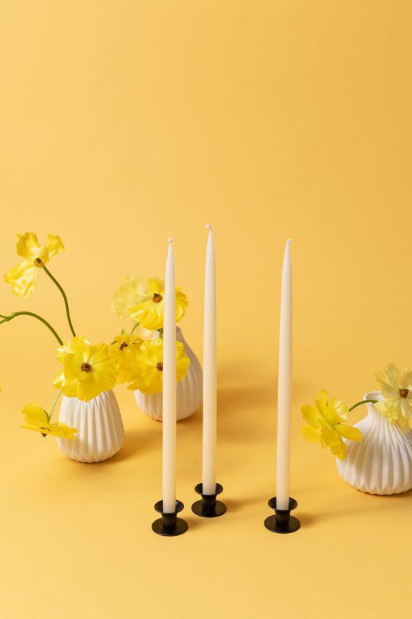 Mini buttercup candle holder - rustic black