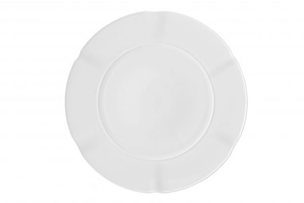 Regal white dinner plate - Signature Rentals