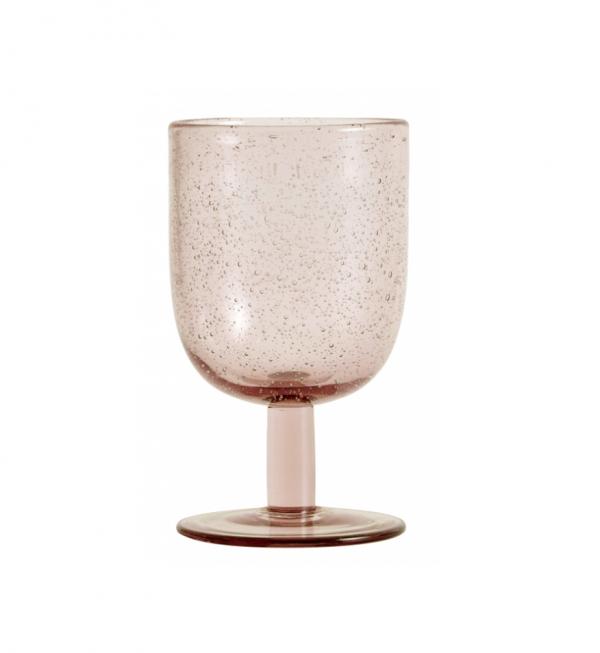 Set of 6 - bubble wine glass light pink
