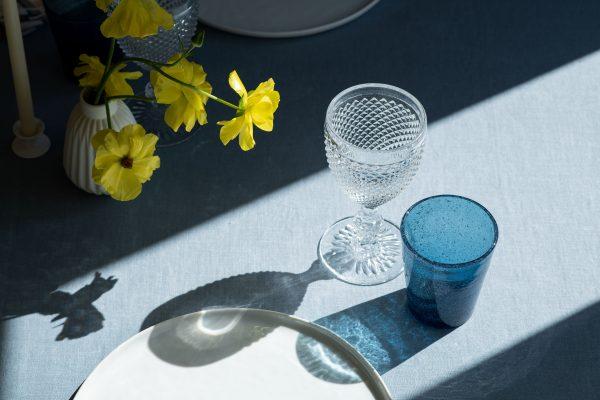 Blue bubble glass - Signature Rentals