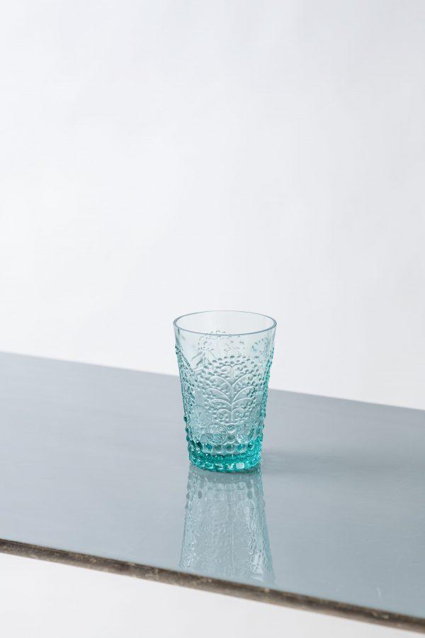 Glassware- Florence Aqua Water Tumbler-Signature Rentals